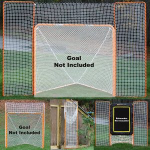 Types of Netting Borders of Lacrosse Backstops