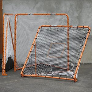 EZ Goal Lacrosse Folding Goal, 6 x 6-Feet, Orange
