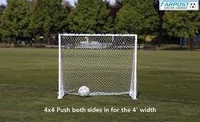 Sharpshooter Portable Aluminum Soccer Goal